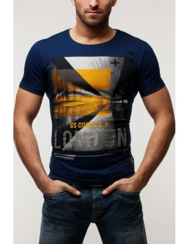 Pánske tričko GS35 - tmavomodré XXL