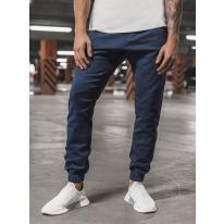 Pánske chino nohavice - joggery O/399 tmavomodré