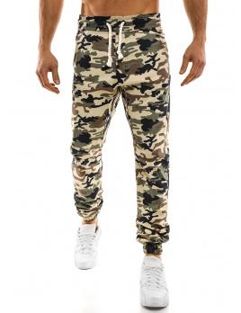 Pánske maskáčové nohavice ATH - tmavo-bežové M