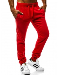 Pánske tepláky J.Style W01 červené XXL