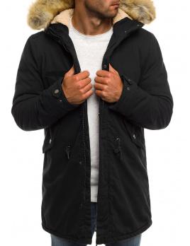 Pánska zimná bunda AK02 - čierna XL
