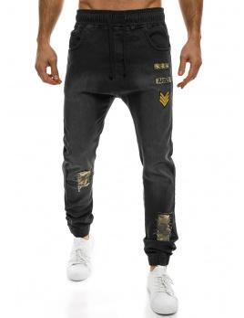 Pánske jeansy OT6 - čierne M