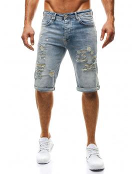 Pánske krátke jeansy OT37 modré - veľkosť 34