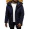 Pánska zimná bunda - parka JS10 tmavomodrá XXL