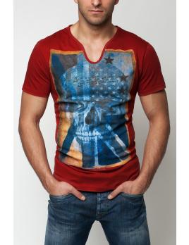 Pánske tričko GS83 - červené XXL