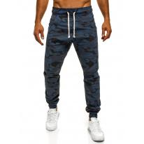 Pánske maskáčové nohavice ATH - tmavomodré