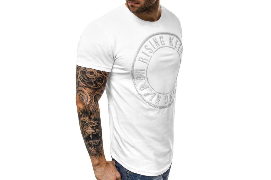 Pánske tričko Breezy B 26 biele  a065ea36375