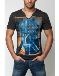 Pánske tričko GS83 - grafit XL