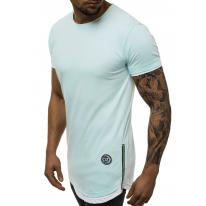 Predĺžené tričko O/1261 tyrkysové