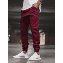 Pánske chino nohavice - joggery O/399 bordové
