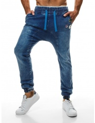 Pánske jeansy OT08 - tmavomodré M