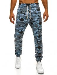 Pánske maskáčové nohavice ATH - modré XL