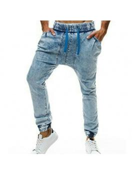 Pánske jeansy OT801 - tmavomodré L