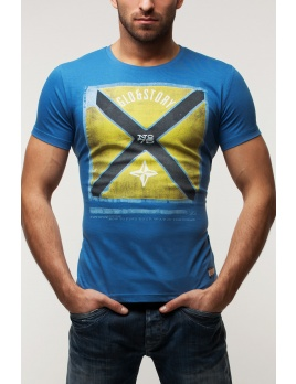 Pánske tričko GS76 - modré XL