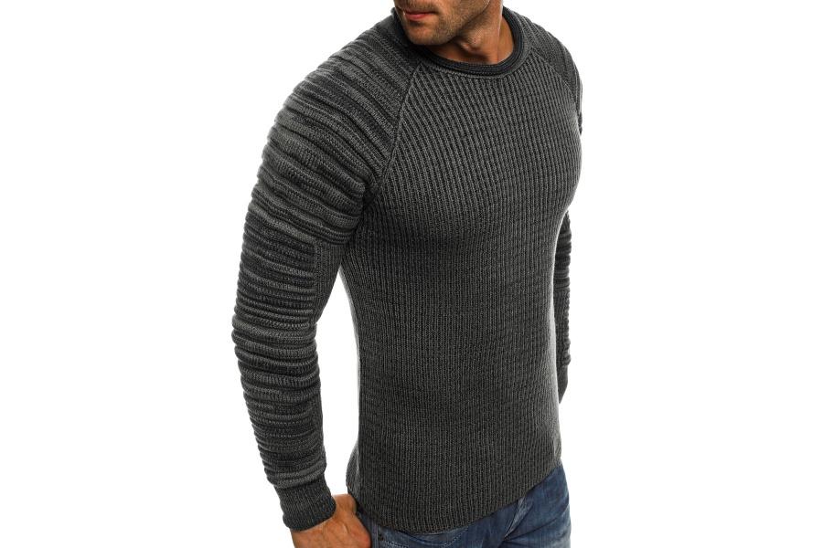 daff10087e77 Pánsky sveter MD35 - tmavošedý M. Výpredaj