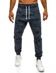 Pánske maskáčové nohavice ATH - tmavomodré XL