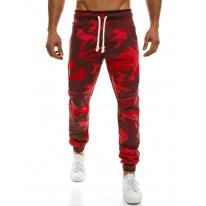 Pánske maskáčové nohavice ATH - červené