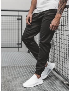 Pánske chino nohavice - joggery O/399 čierne S