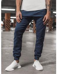 Pánske chino nohavice - joggery O/399 tmavomodré XXL