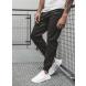 Pánske chino nohavice - joggery O/399 čierne L