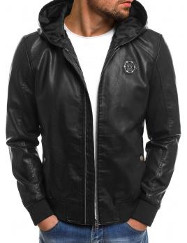 Pánska kožená bunda NT318 čierna L