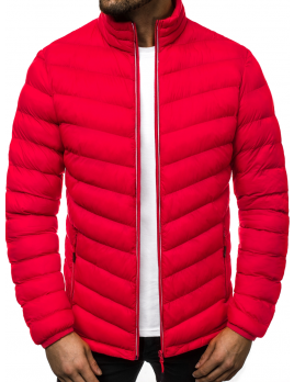 Pánska zimná bunda JS/71 červená M