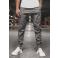 Pánske chino nohavice - joggery O/399 tmavošedé