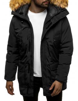 Pánska zimná bunda - parka JS10 čierna XL