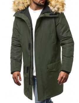 Pánska zimná bunda - parka JS10 zelená XL