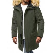Pánska zimná bunda - parka JS10 zelená
