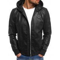 Pánska kožená bunda NT318 čierna
