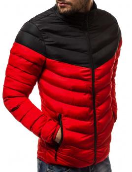 Pánska bunda M01 červená L