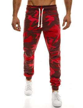 Pánske maskáčové nohavice ATH - červené L