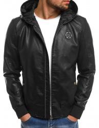 Pánska kožená bunda NT318 čierna XL