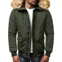 Pánska zimná bunda JS19 zelená