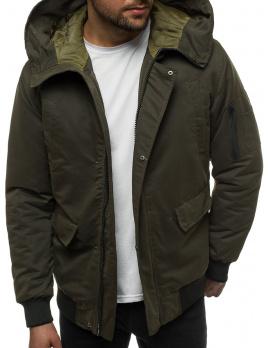 Pánska zimná bunda JS/k19 zelená XL