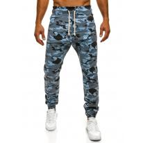 Pánske maskáčové nohavice ATH - modré