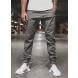 Pánske chino nohavice - joggery O/399 tmavošedé L