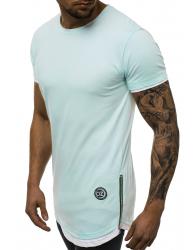 Predĺžené tričko O/1261 tyrkysové L
