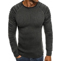 Pánsky sveter MD35 - tmavošedý