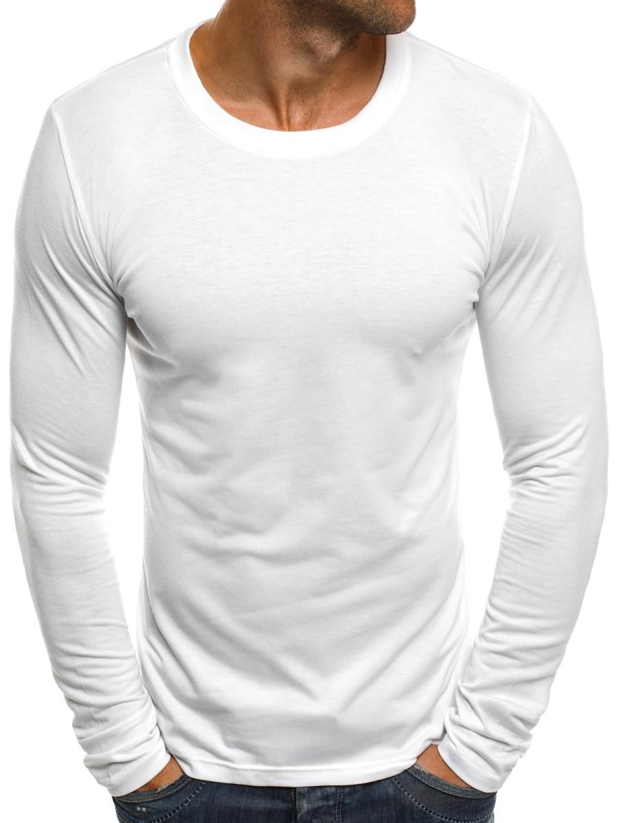 adebf55802a6 Tričko s dlhým rukávom ST28 - biele